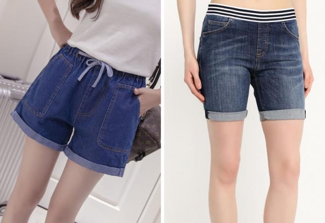 женские летние джинсовые короткие шорты