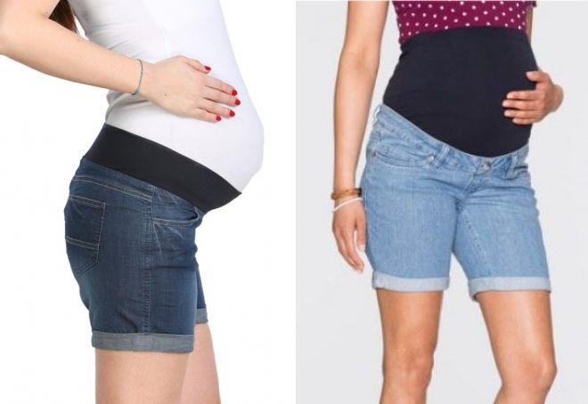 короткие джинсовые шорты на резинке