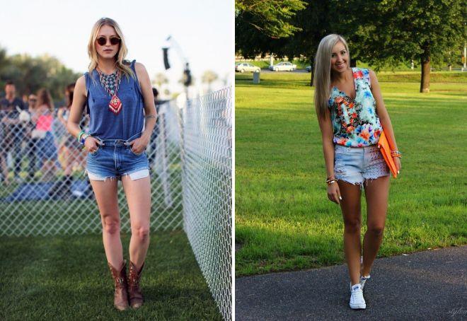 короткие джинсовые шорты для девушек