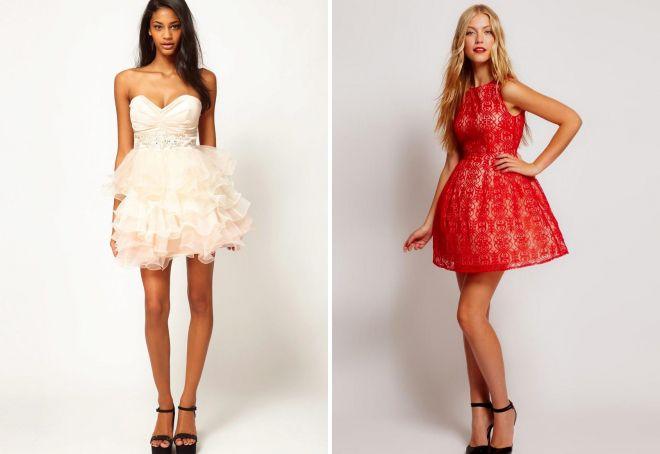 короткие пышные вечерние платья
