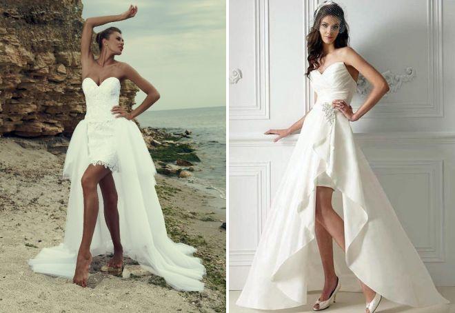 белые короткие вечерние платья