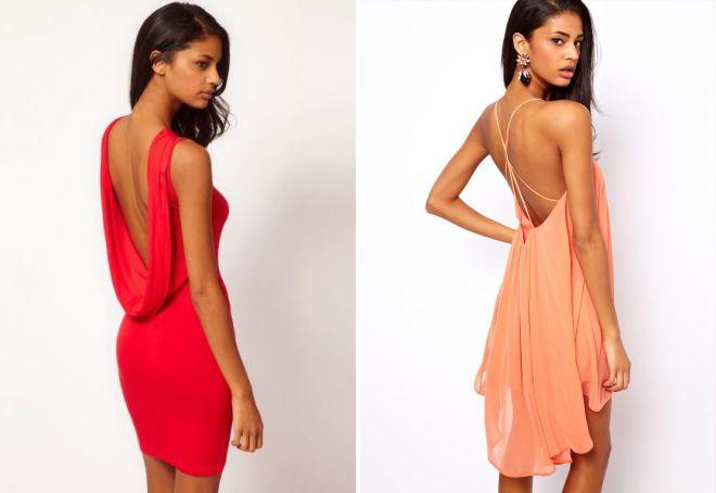 летние короткие вечерние платья