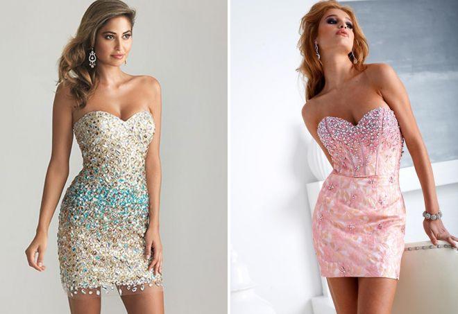 облегающие короткие вечерние платья