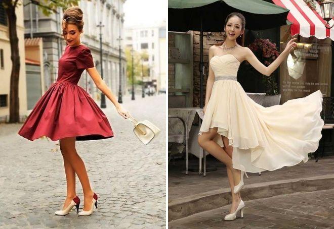короткие летние вечерние платья 2017