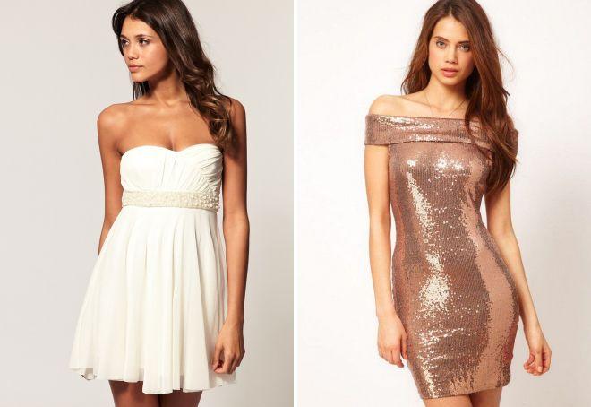 модели коротких вечерних платьев
