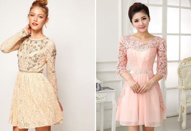 красивые короткие вечерние платья