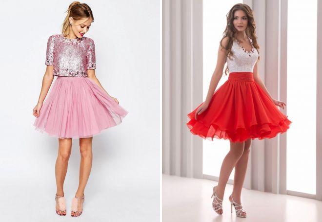 ec2c15b7a21 Красивые короткие вечерние платья – пышные