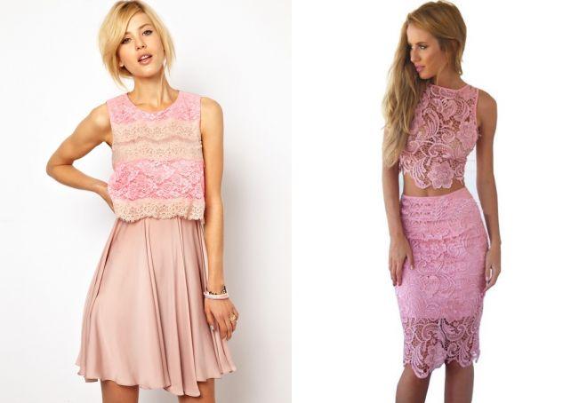 розовые короткие вечерние платья