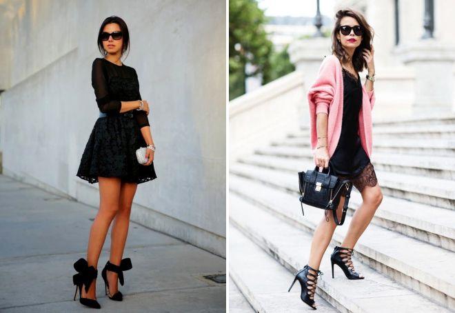 модные короткие кружевные платья