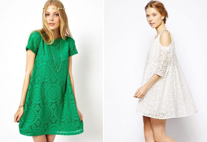 образ с коротким кружевным платьем