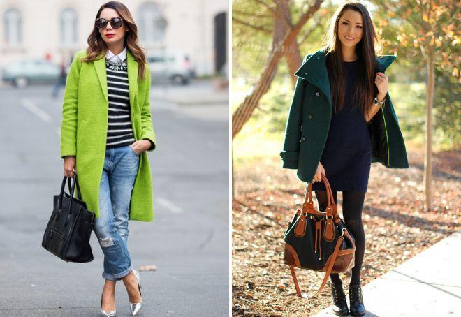 11f9daf0d90 Женское зеленое пальто – длинное