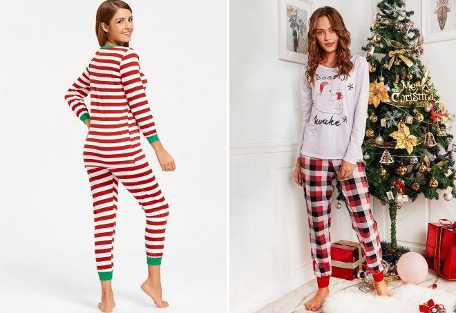 Женские новогодние пижамы – красная 71930f8050f71