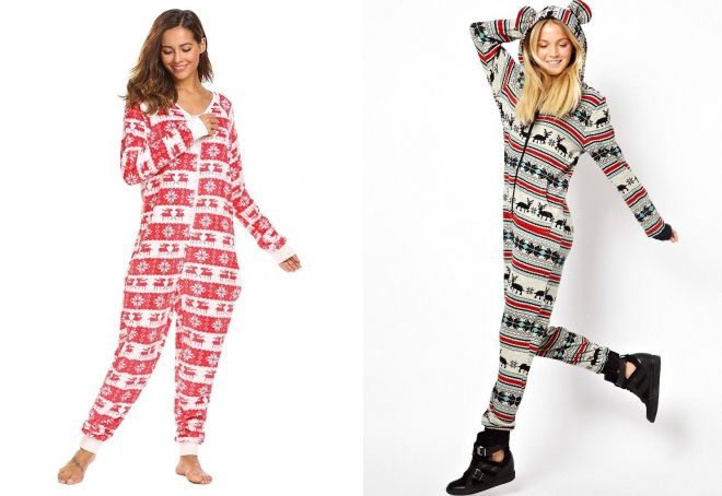 Женские новогодние пижамы – красная aac47e48a7b48