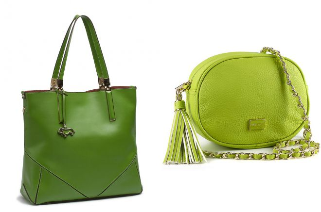 женские зеленые сумки
