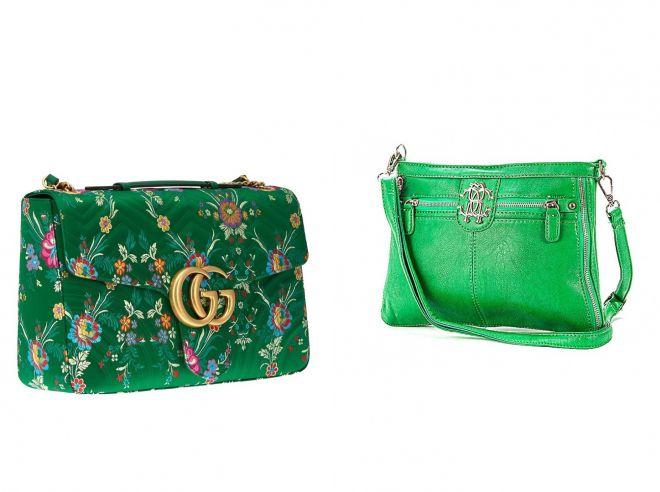 брендовые зеленые сумки