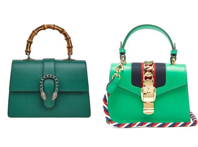 зеленая сумка гуччи