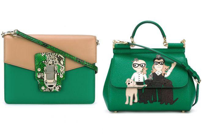зеленая сумка дольче габбана