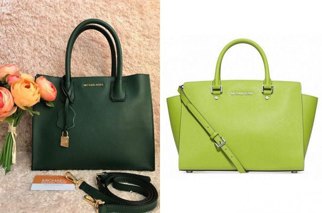 зеленая сумка майкл корс