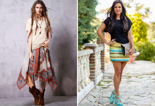 юбка в стиле этно