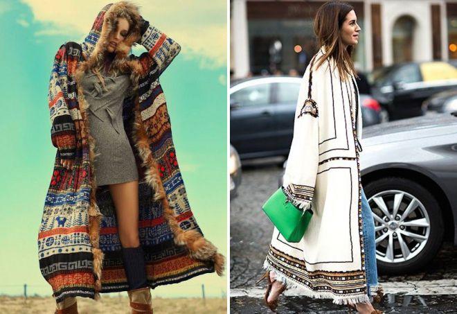 пальто в стиле этно