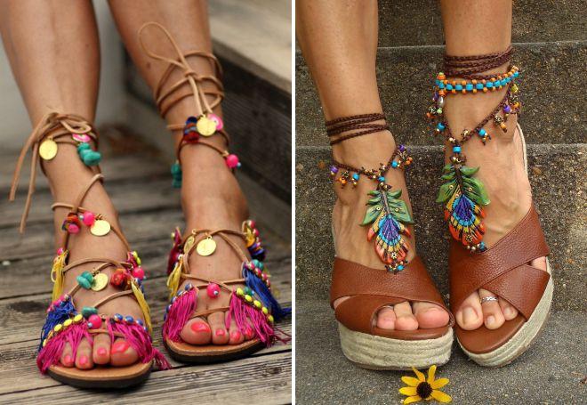 chaussures de style ethnique