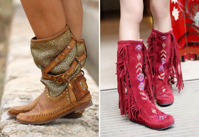женская обувь в стиле этно