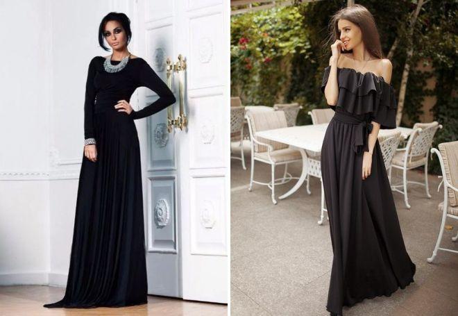 8857f275041 Красивое черное вечернее платье – длинное и короткое
