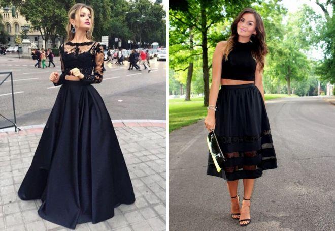 черные вечерние платья 2017
