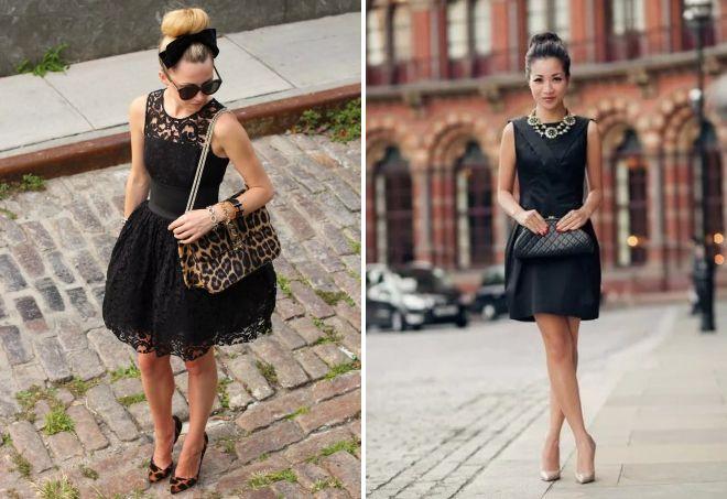 девушка в вечернем черном платье