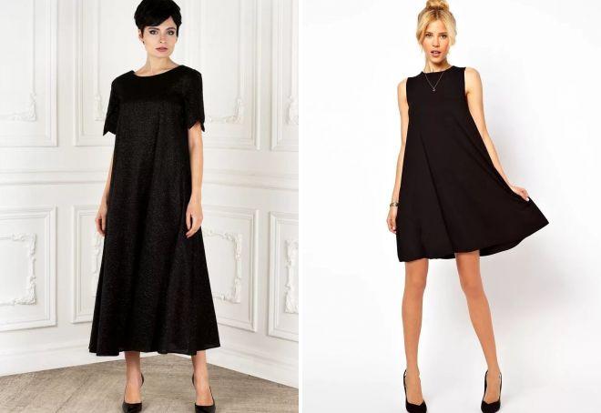девушка в черном вечернем платье