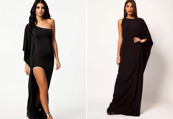 длинные черные вечерние платья