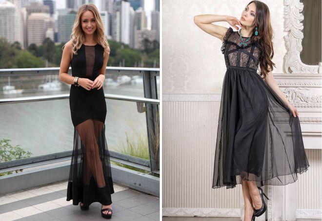 черное платье на вечер