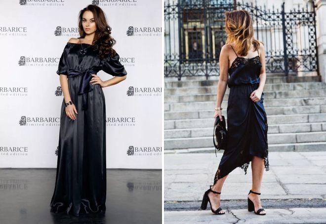вечерний образ с черным платьем