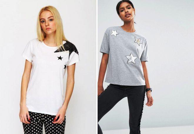 футболка со звездой из пайеток