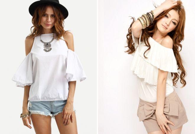 легкие блузки на лето
