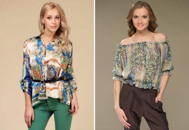 0a9d26d33e5 цветные летние блузки женские летние блузки
