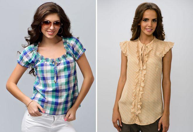 женские летние блузки