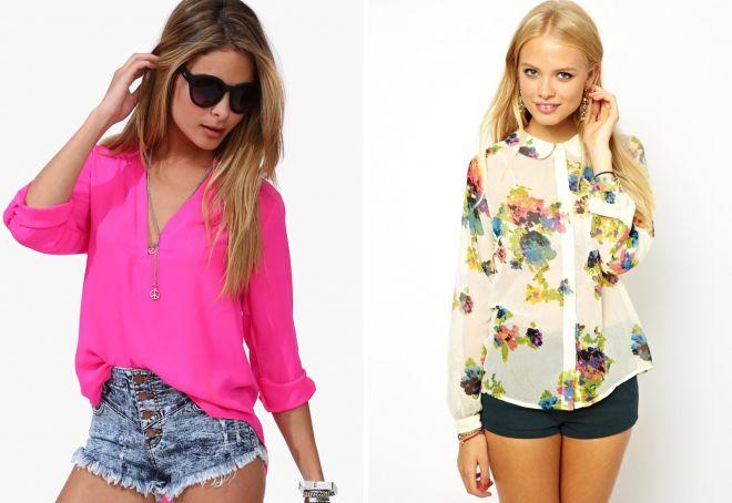 блузки на лето