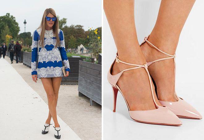 женские кожаные туфли с ремешками