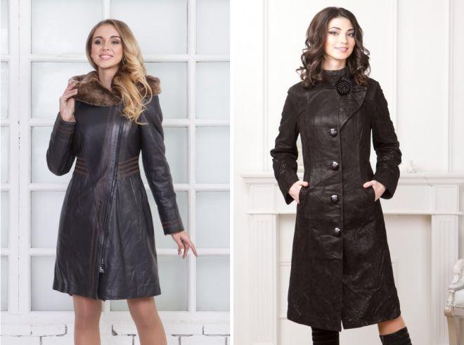 a476cfe8495 Стильное женское кожаное пальто – классическое