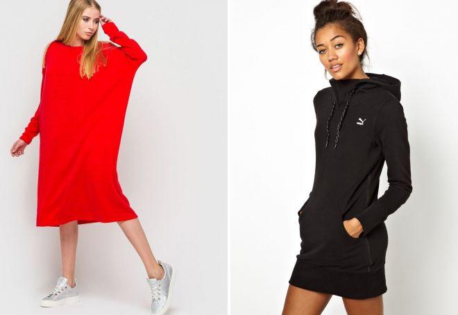 теплые спортивные платья