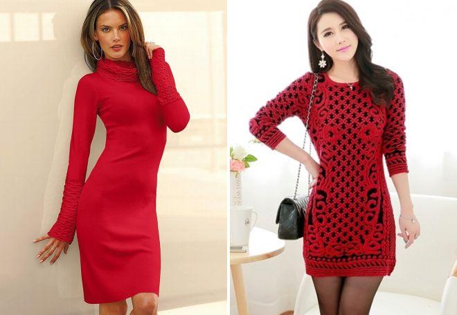 3a92aeec064 Популярным выбором стало сочетание с черным. красивые теплые платья