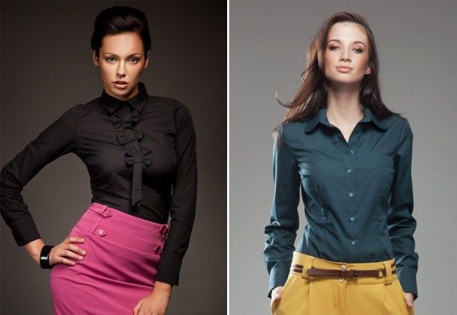 облегающие модели рубашек