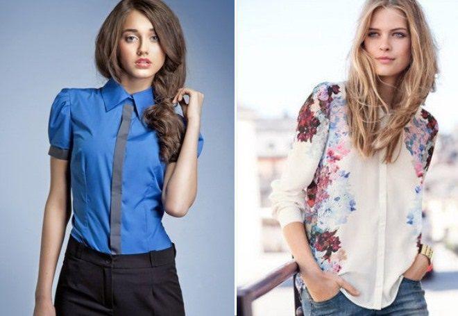 модели женских рубашек