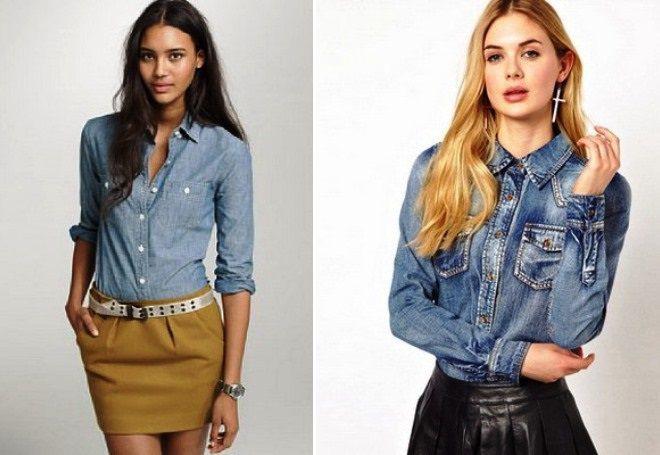 рубашки из джинса