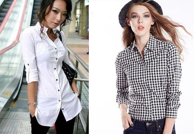33cf9d2fea0b Модные женские рубашки – белые и черные, джинсовые и шелковые ...