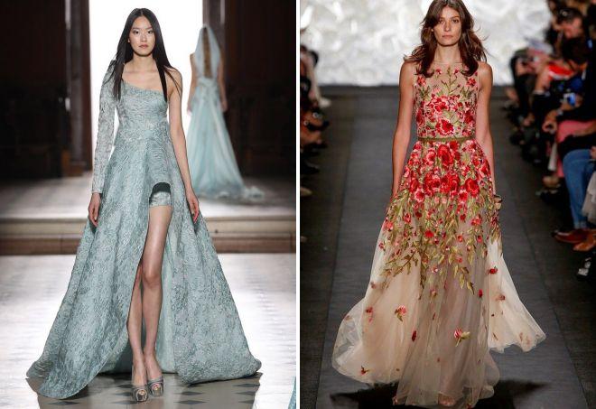 стильные фасоны вечерних платьев