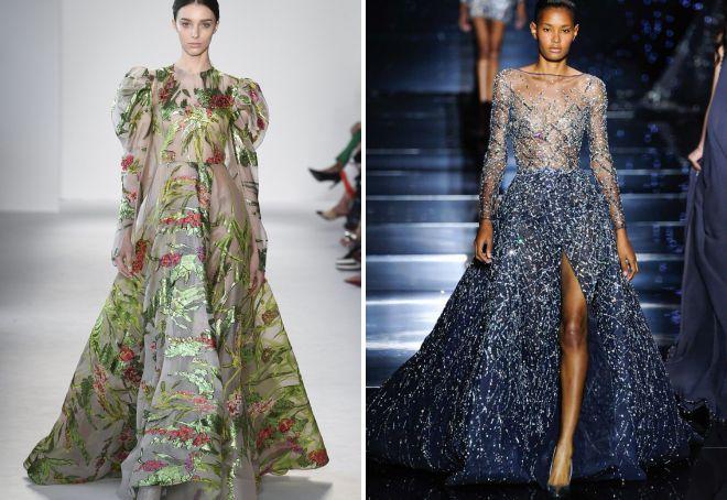 фасоны вечерних платьев с длинным рукавом