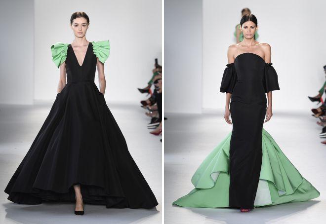фасоны вечерних платьев 2018