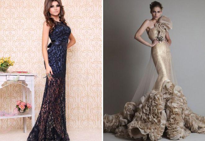 вечерние платья облегающие фасоны